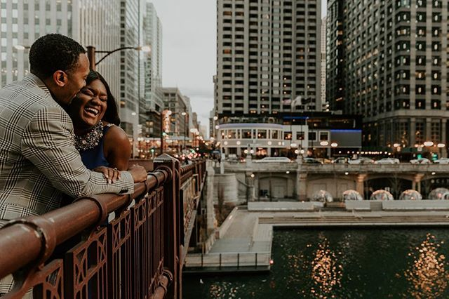 When you begin to forgive those in your life that never apologize...things get so much better. || Laughter over the Chicago River. Love these two ❤️