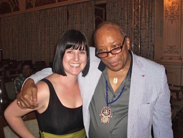 Cuddles with Quincy Jones,Montreux Jazz Festival, 2011.