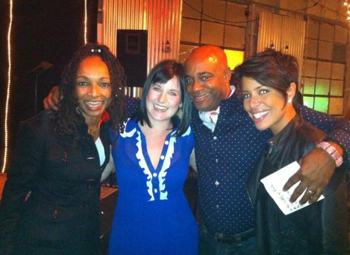 With Siedah Garrett and the wonderful Dorian Holley at LA Music Academy, 2010.