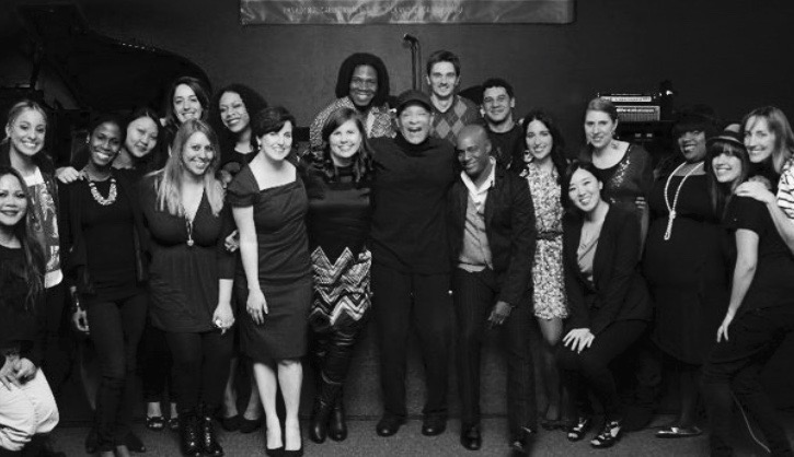 Meeting Al Jarreau with my classmates,mentors and friends at the LA Music Academy, 2011.
