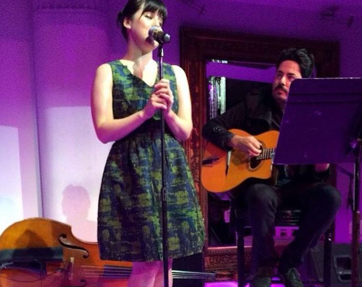 Singing some standards at Slide, Sydney, 2014