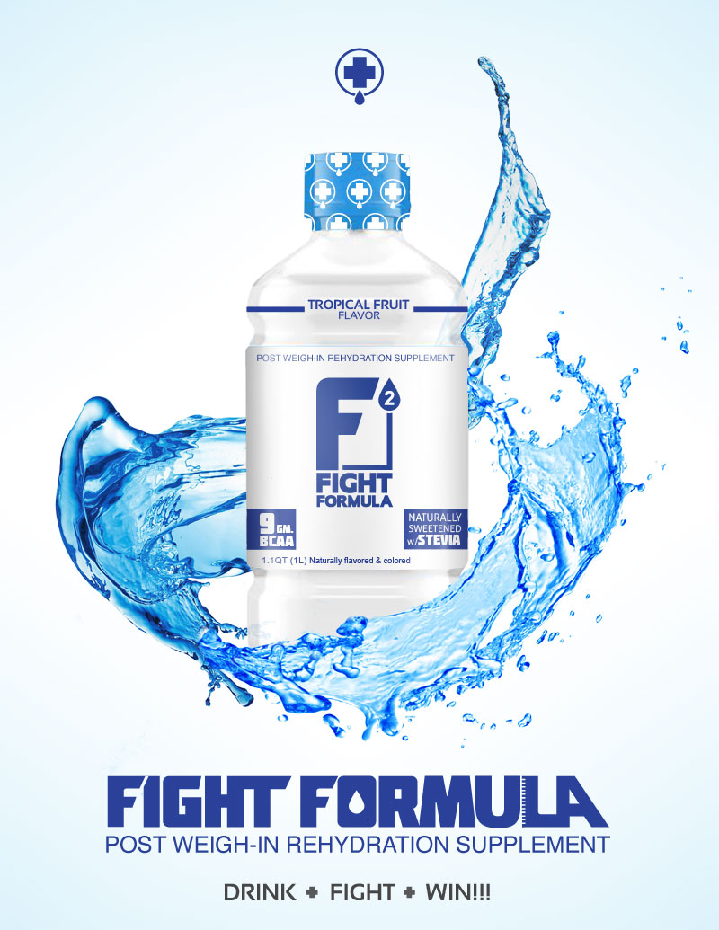 FIGHT FORMULA - Logo, packaging and poster design for a thirst quenching sports drink.