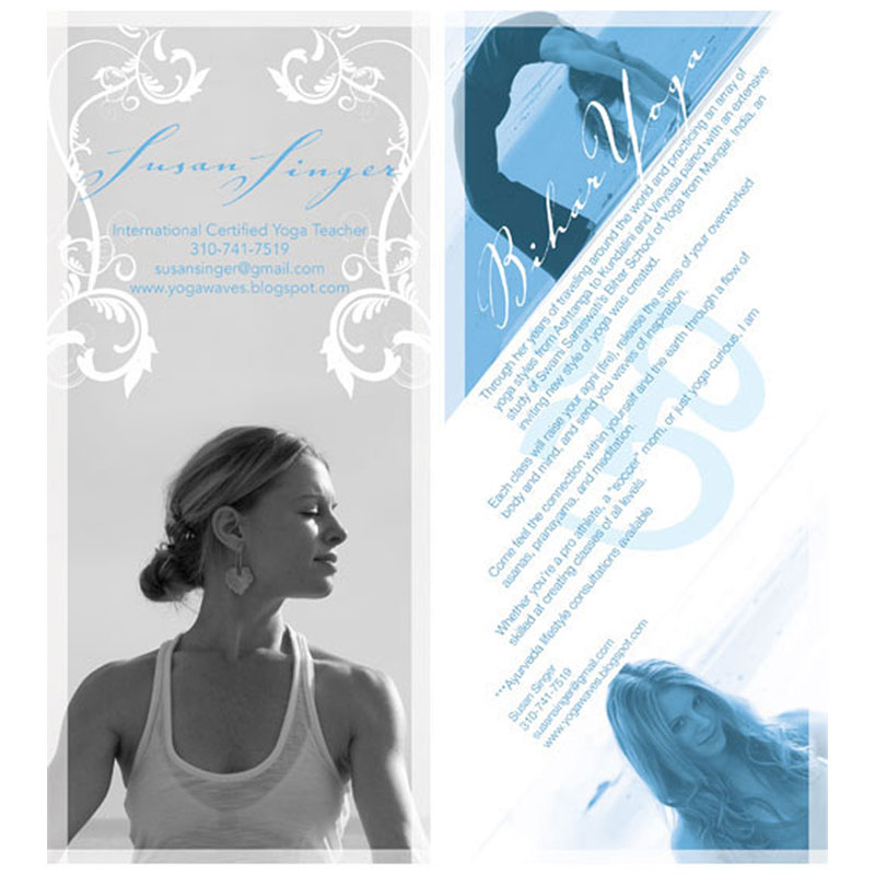 Susan Singer - Yoga marketing postcard