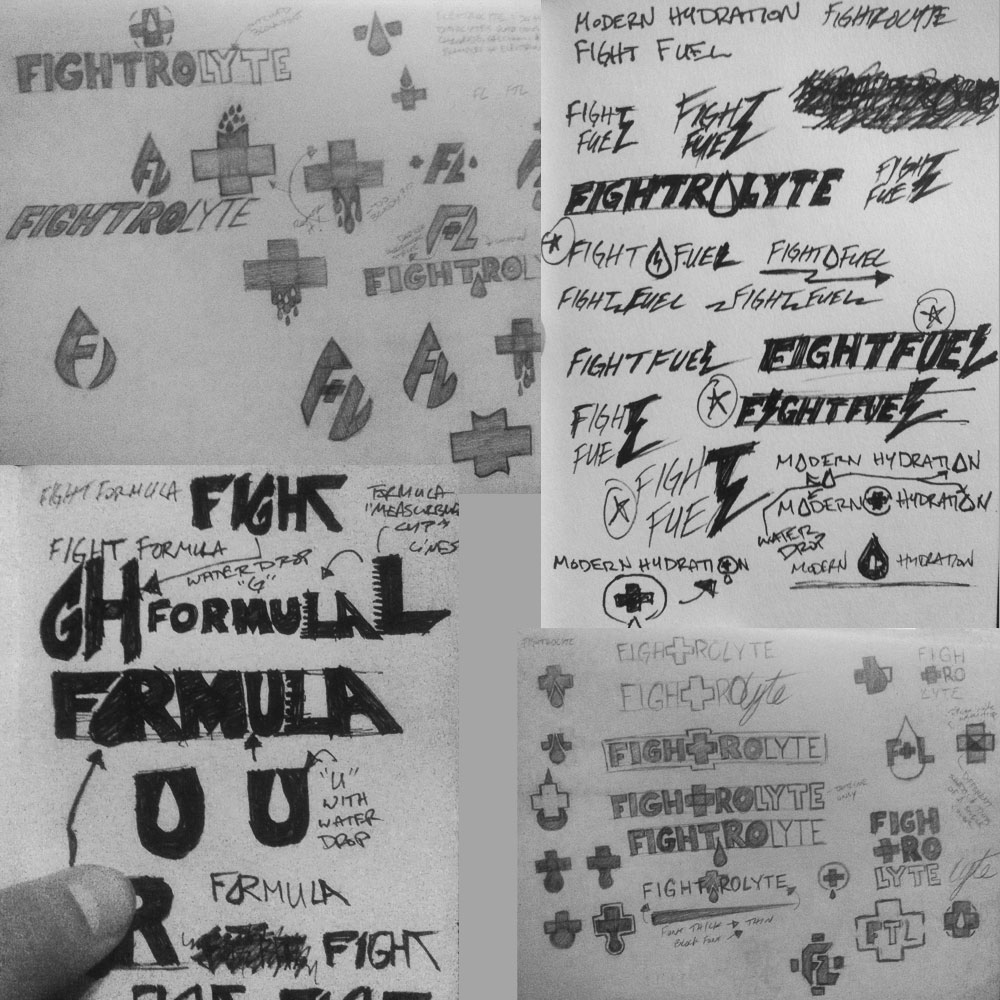 Logo & wordmark rough sketch ideas