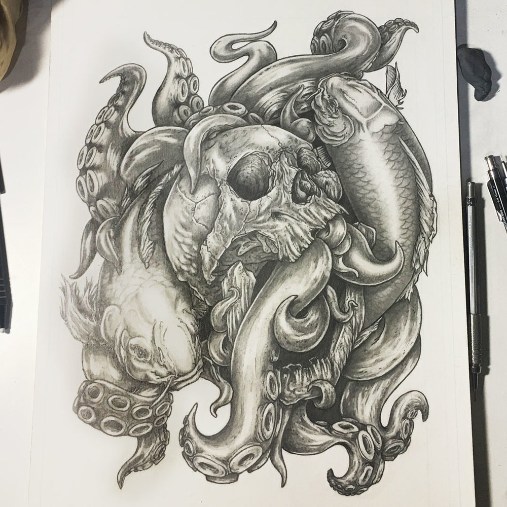 Pisces - Check out the drawing time lapse processvideo on my Youtube channel!