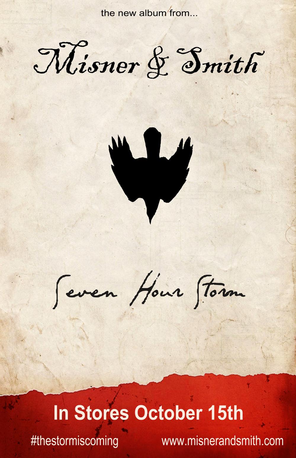 Seven Hour Storm - Album art by Kyle Monhollen 2407 Graphics