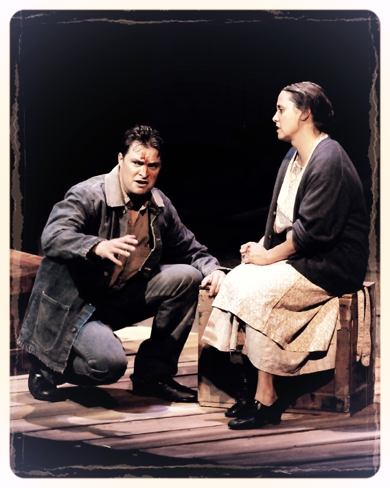 Kirk Blackinton as 'Tom Joad' and Laura Kaya as 'Ma'. Barry Wisdom Photography