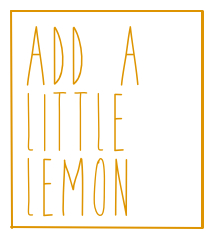 add a little lemon