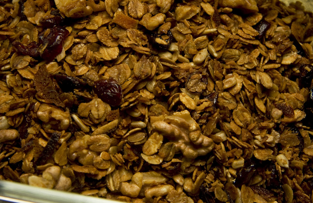 orange coconut cranberry granola!