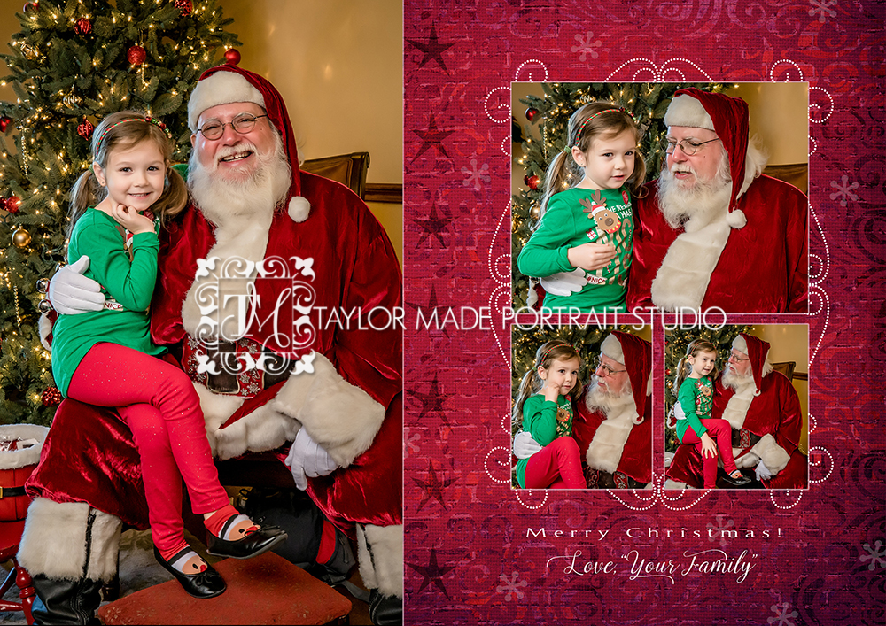 Inside of the Folded 5x7 Christmas Card - Pack of 24 cards $70