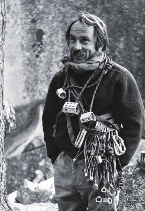 CC BY –SA 3.0 -    Tom Frost      (~1938 - )     -      http://www.fastcompany.com/files/next-46-sustainability2.jpg    A photo of rock climber Yvon Chouinard. First published in  Chouinard 1972 Catalog