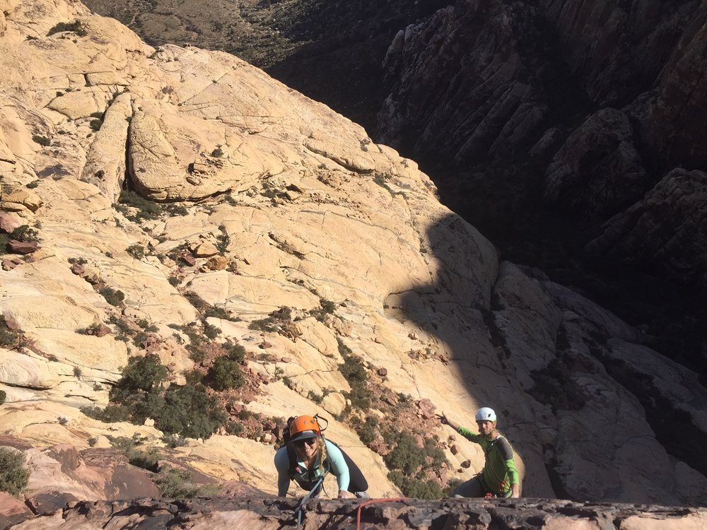 3 Person Rope Team 5 Red Rock Nevada 2 Alpine Climber Rock Climbing SAANO Adventures Trad Climbing Multi Pitch.JPG