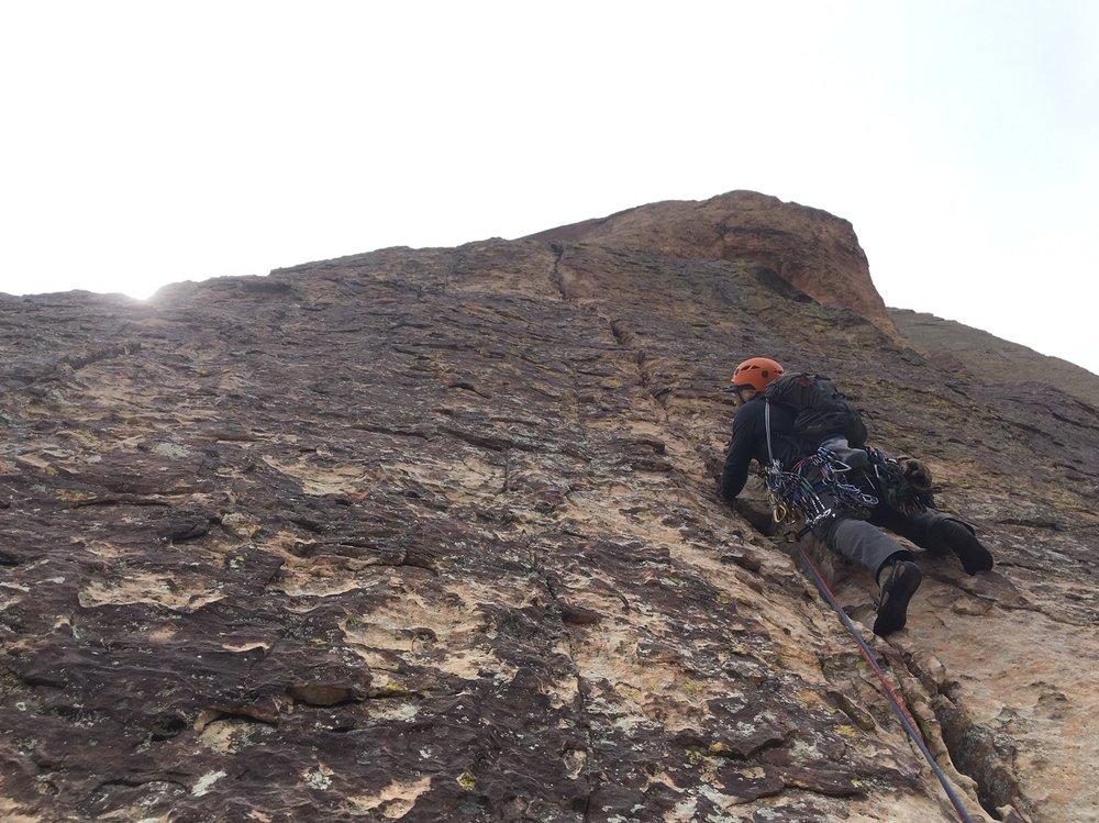 3 Person Rope Team Red Rock Nevada 3 Alpine Climber Rock Climbing SAANO Adventures Trad Climbing Multi Pitch.jpg