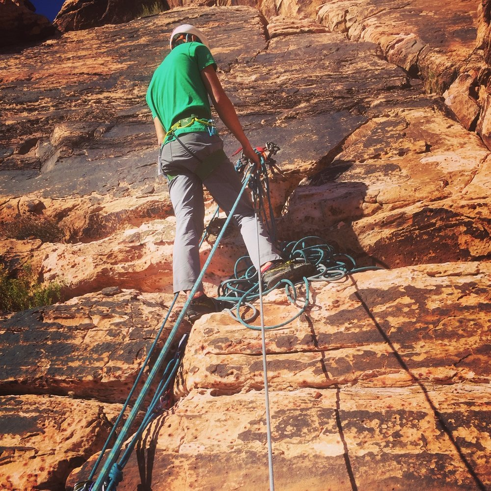 Red Rock Nevada 10 Rope Management Rescue Skills Rock Climbing SAANO Adventures Trad Climbing Multi Pitch.JPG
