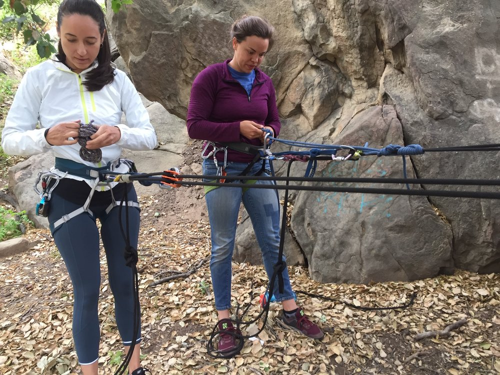Rope Management Stoney Point Park Rock Climbing SAANO Adventures Trad Climbing Multi Pitch.JPG