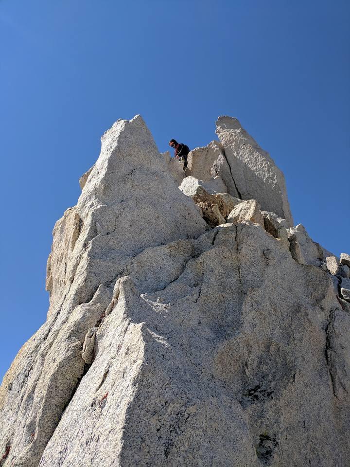 Alpine Climber Mt Conness Summit Yosemitte Tuolumne Meadows Rock Climbing SAANO Adventures Trad Climbing Multi Pitch.JPG