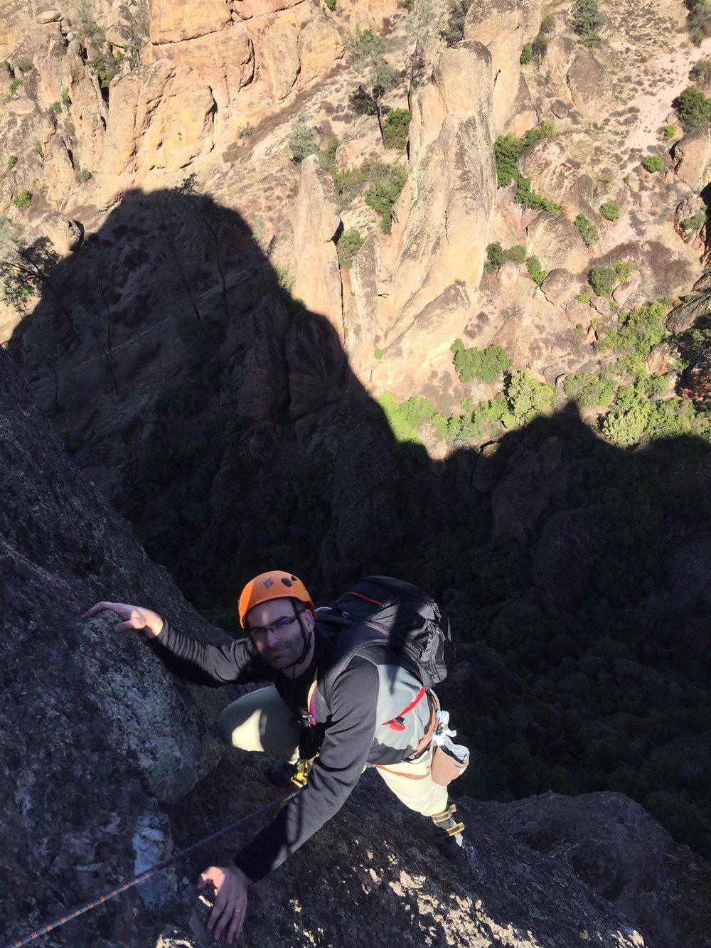 Alpine Climber Pinnacles National Park Rock Climbing SAANO Adventures Trad Climbing Multi Pitch.JPG