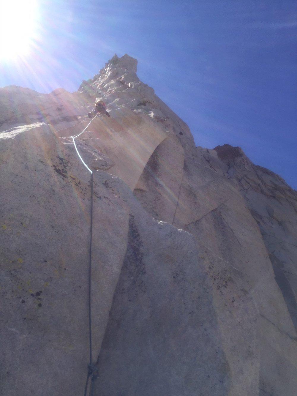 Alpine Climbing Sierra Mountains Rock Climbing SAANO Adventures Trad Climbing Multi Pitch.JPG