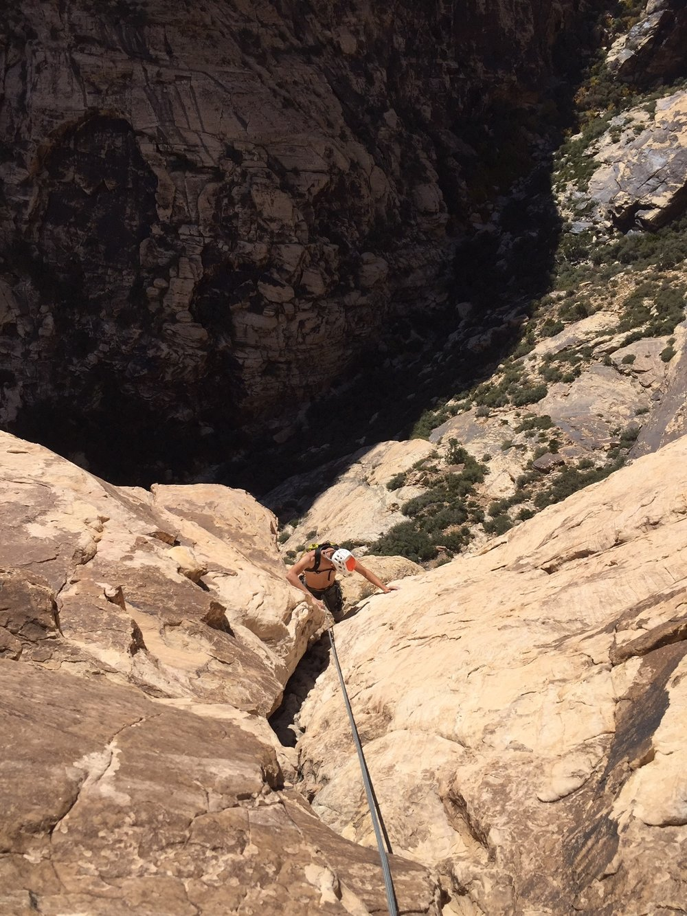 Red Rock Nevada 3 Alpine Climber Rock Climbing SAANO Adventures Trad Climbing Multi Pitch.JPG
