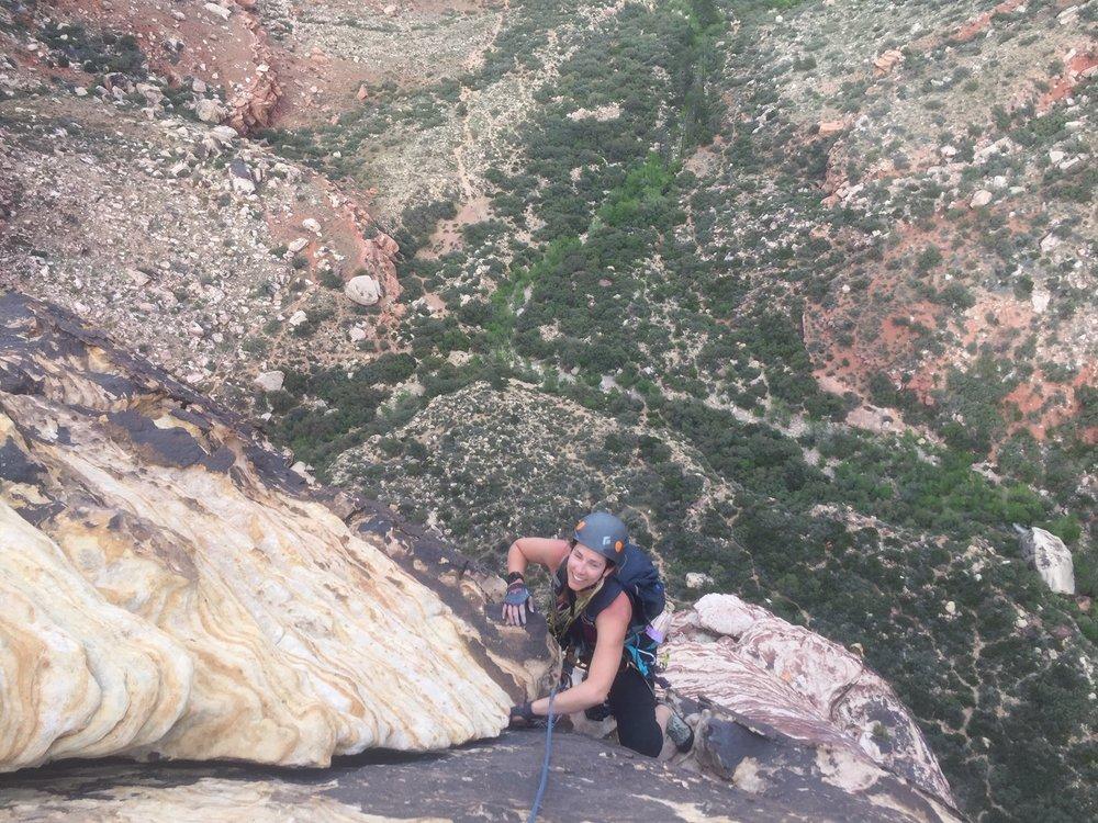 Red Rocks Nevada Alpine Climber Rock Climbing SAANO Adventures Trad Climbing Multi Pitch.JPG