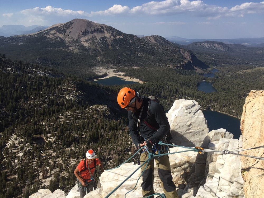 Alpine Climbing Sierra Mountains 3 Rock Climbing SAANO Adventures Trad Climbing Multi Pitch.JPG