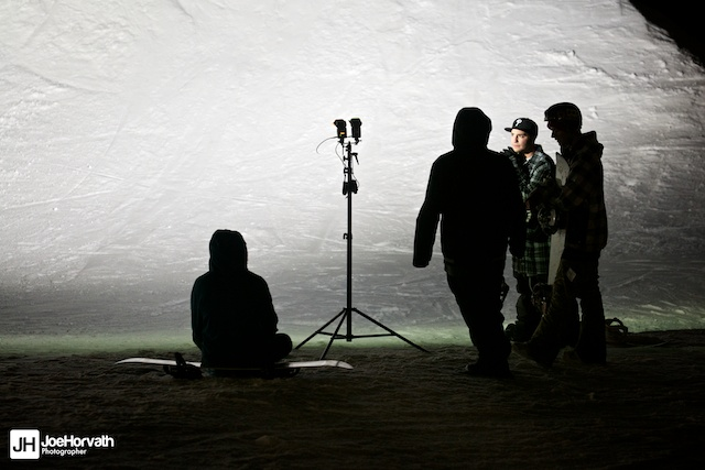 The Teamlab crew at Granite Peak Parks, lit with a speedlight