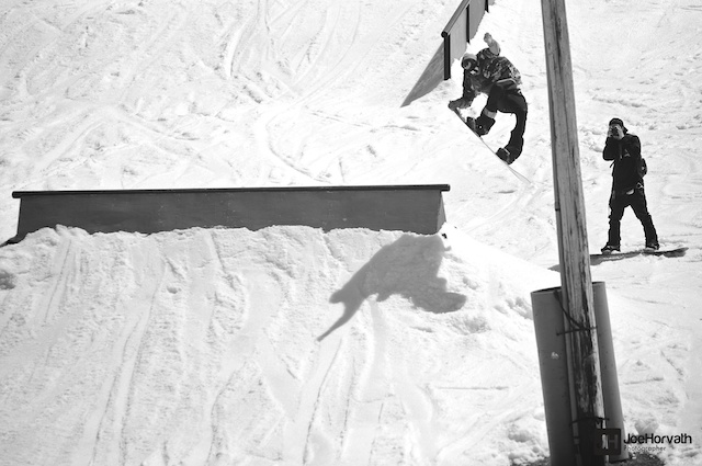 snowboarder at tyrol basin spring jam by joe horvath visuals