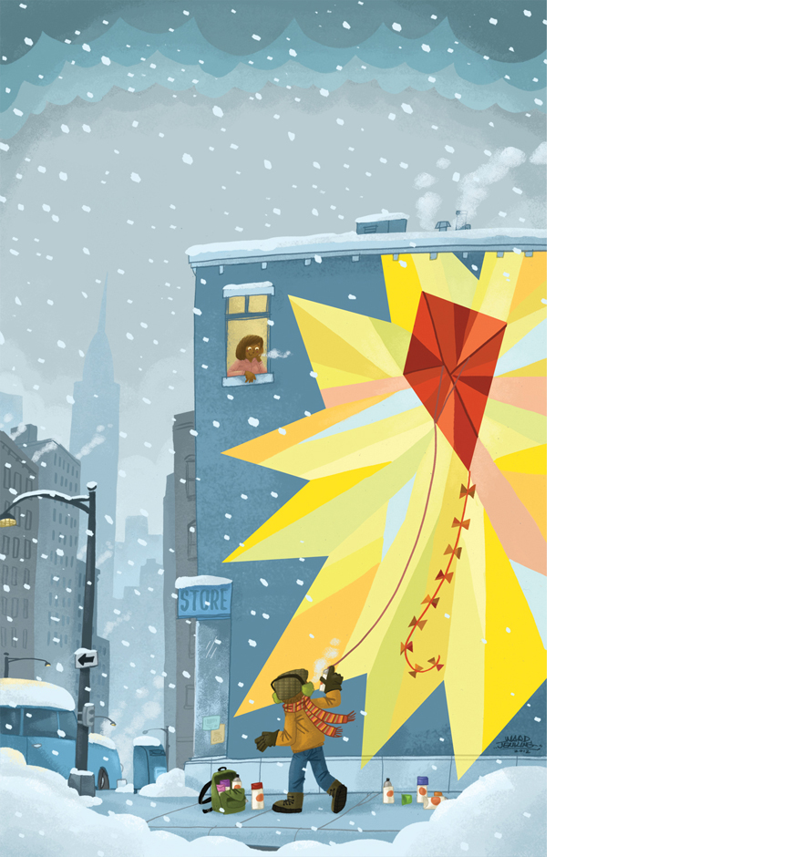 SCBWI BULLETIN: FLYING KITES IN WINTER