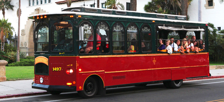GROUP TRANSPORATION:   http://www.sbtrolley.com