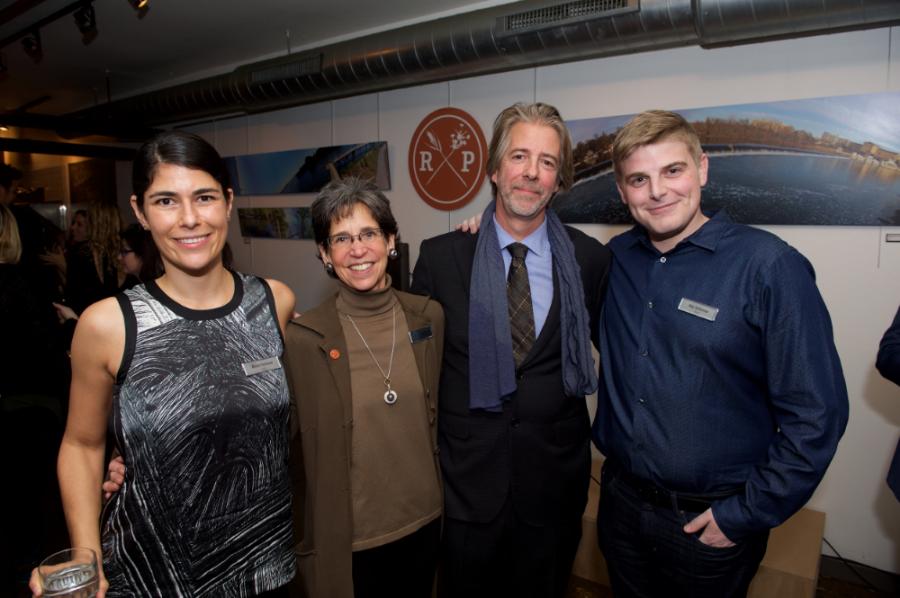 From left: Ali Perelman, Nancy Goldenberg (CCD), Michael Garden (FRP), and Max Tuttleman
