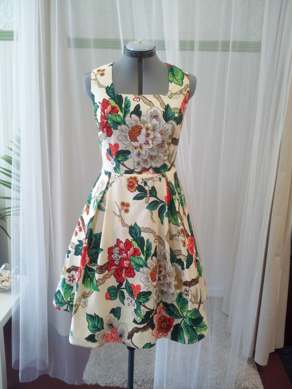 Custom made dress for the lovely Bridget Lancaster from America's Test Kitchen