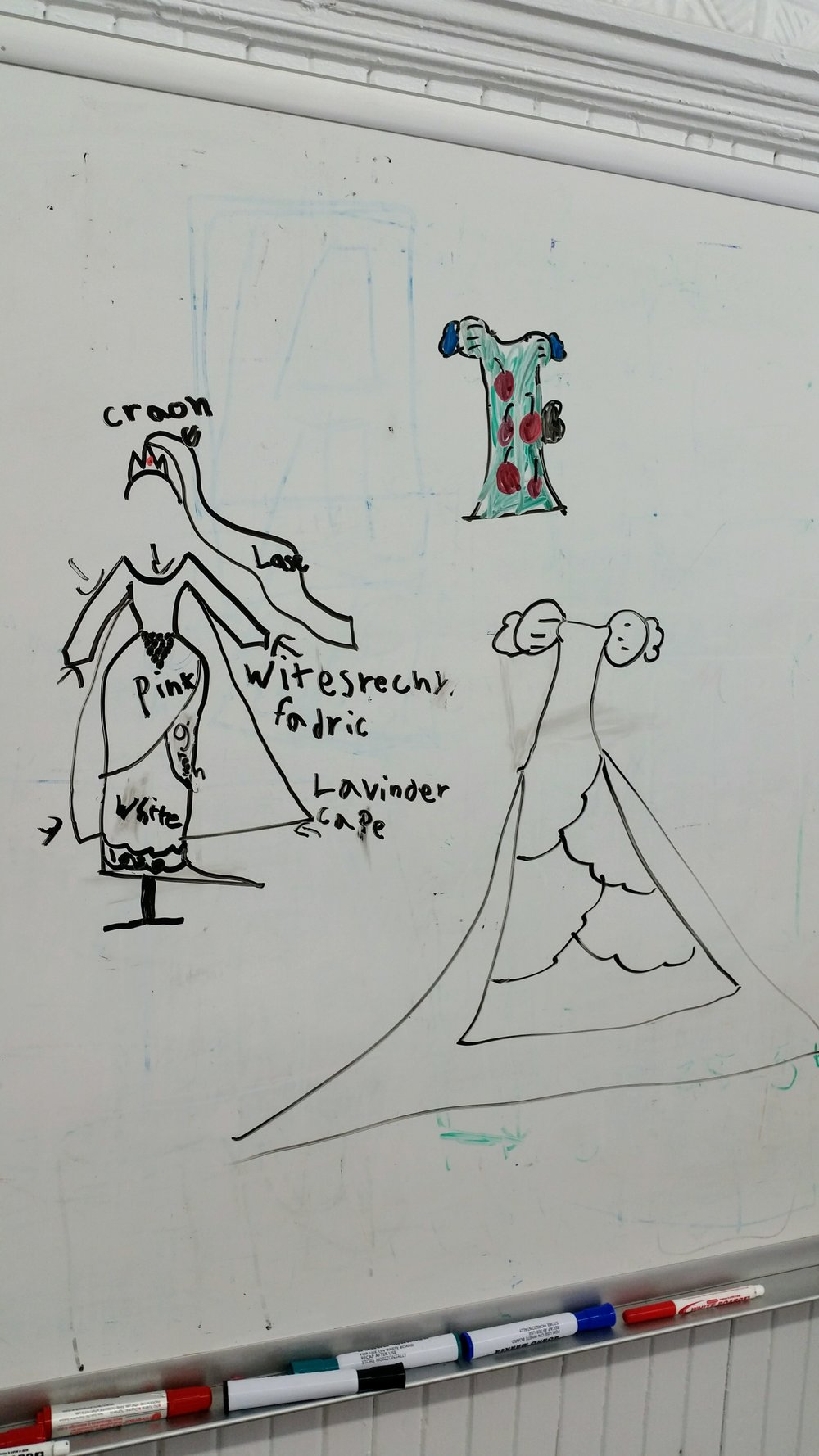 Kids Camp's graduate Olive left us with some amazing personal designs!