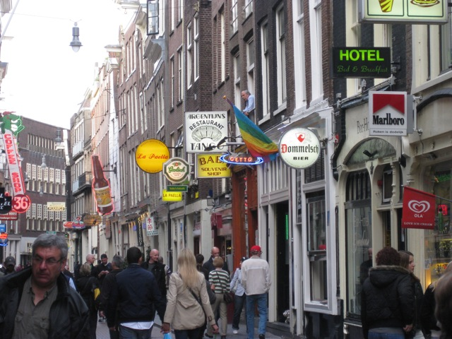 Visit to downtown Amsterdam
