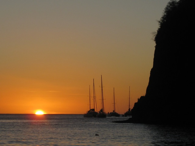 Soufriere at Sunset