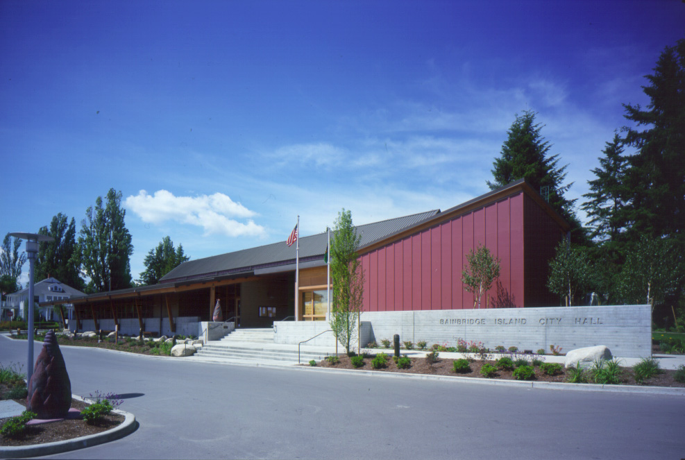 City of Bainbridge Island City Hall Project by The Miller/Hull Partnership Principals: Bob Hull & Craig Curtis Project Managers: Steve Tatge & Robert Hutchison Project Architect: Robert Hutchison