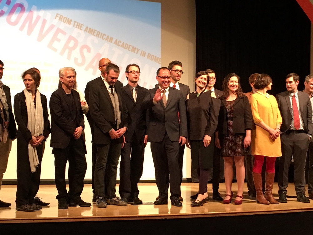 2016 - 2017 Rome Prize Ceremony, The New School, New York City, April 21, 2016
