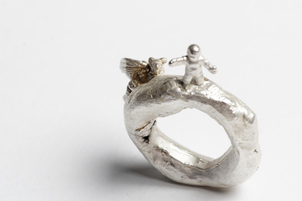 Ring  Fine silver.