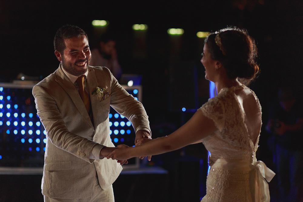 Primer baile de la pareja de casados