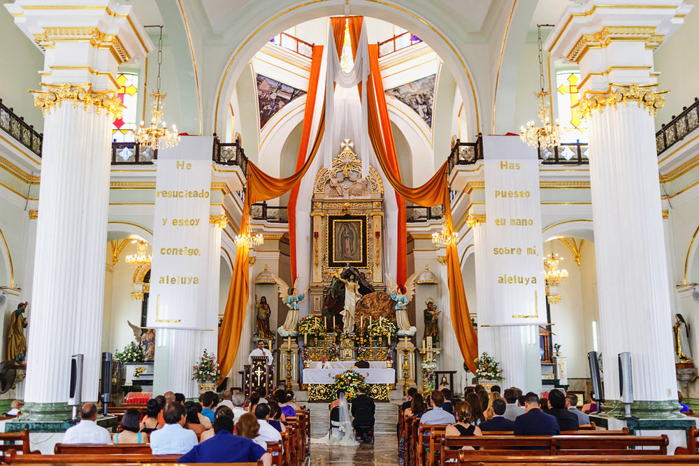 Inside the church of Lady of Guadalupe, Puerto Vallarta, Mexico