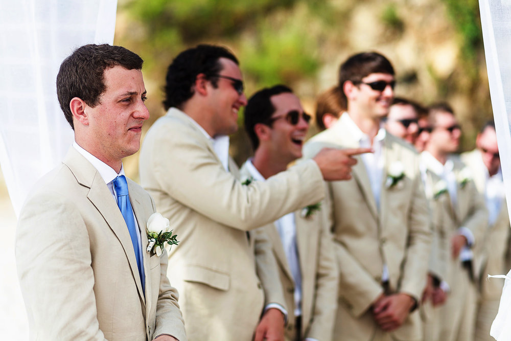 Groom in place for wedding ceremony - Eder Acevedo cancun los cabos vallarta wedding photographer