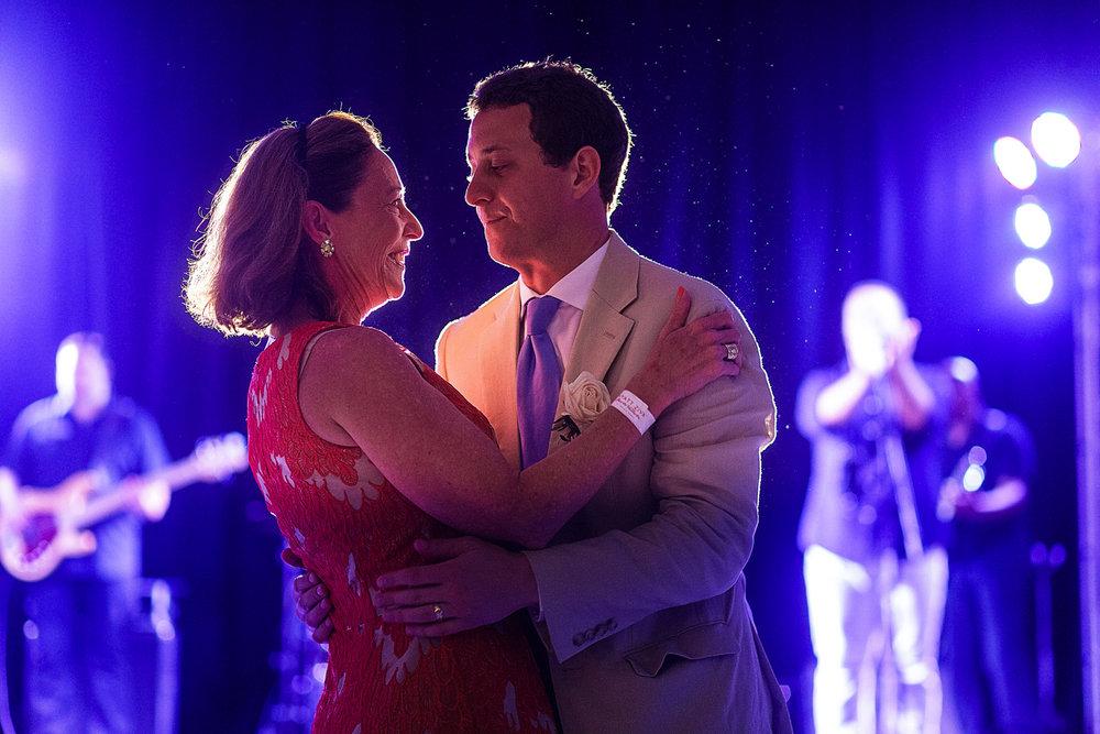 Mother and son dance during wedding reception - Eder Acevedo cancun los cabos vallarta wedding photographer