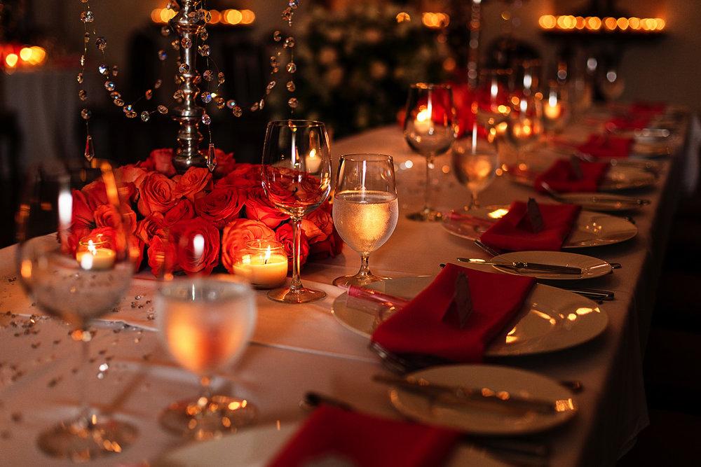 Table decor details for wedding at Hacienda San Angel in Puerto Vallarta