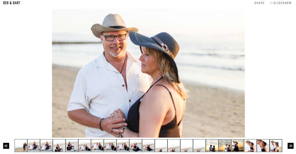 Cover photo for Deb and Bart gallery couple's portrait photo shoot on their wedding day.