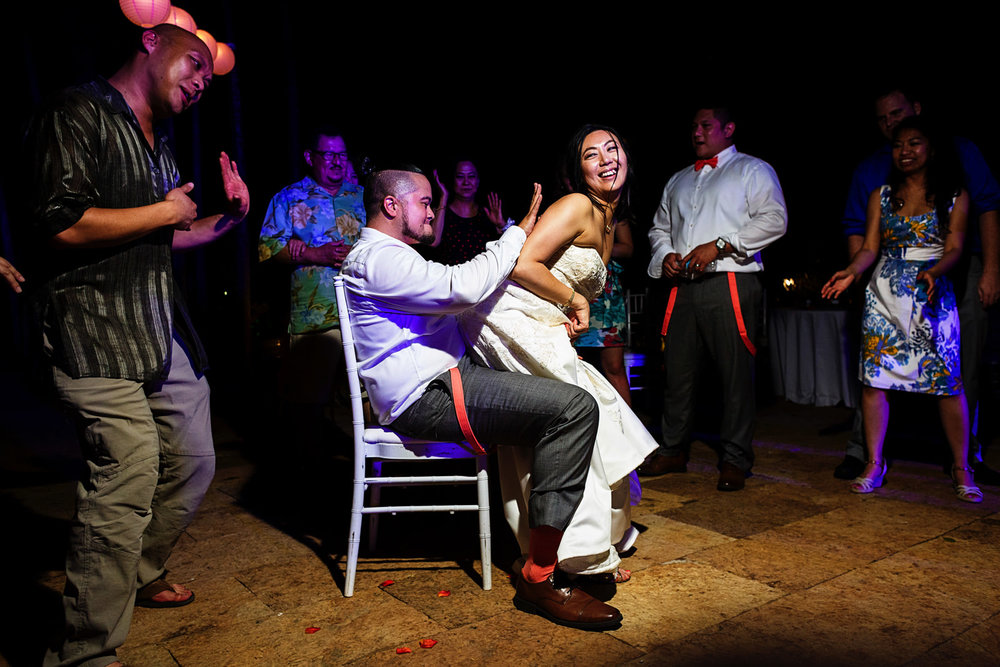 Bride does a lap dance to the groom