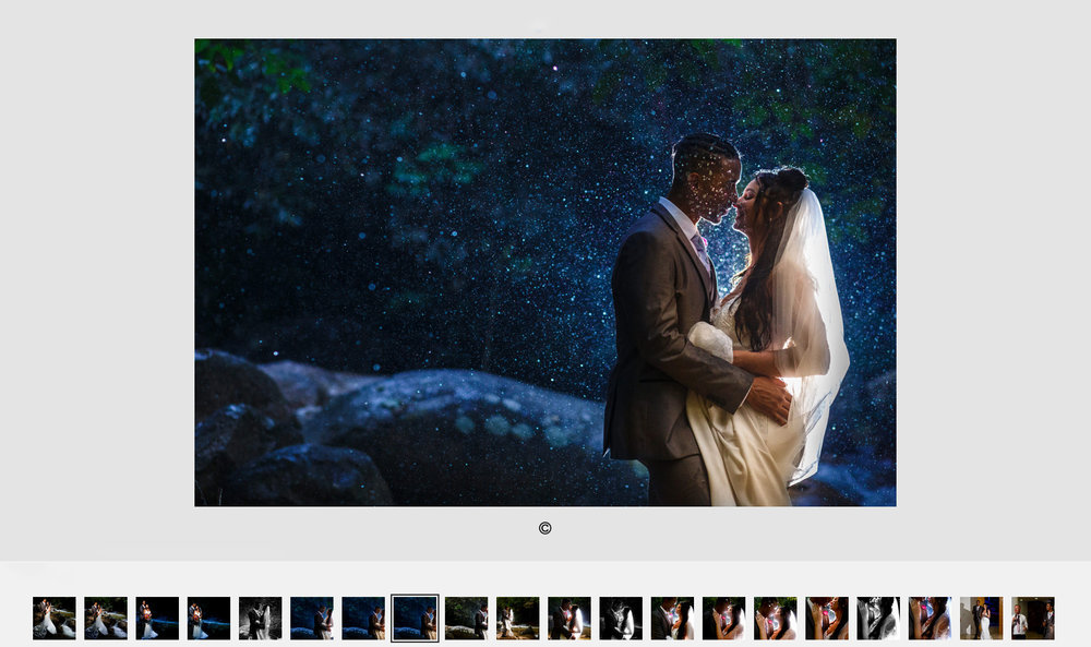 Cover photo of the Natalie and Skylar's destination wedding day story gallery.