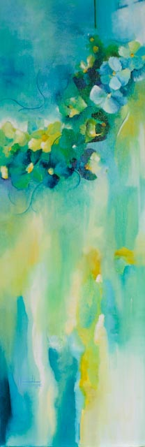 """For A Garden In Moonlight"" 12X36"