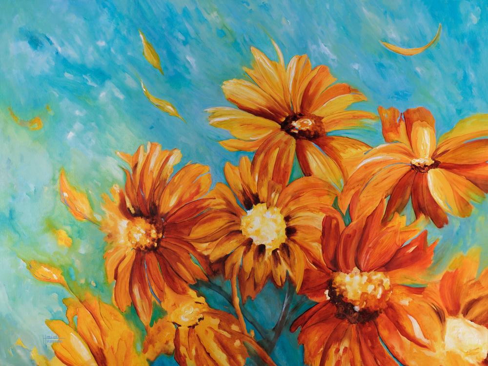 """Sunflowers"" 36X48"