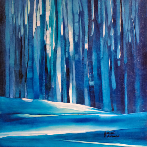 """Woods for an Owl"" 16 X 16 SOLD"