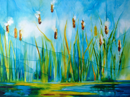 """Wind Through the Reeds"" 36 X 48 (No longer available)"