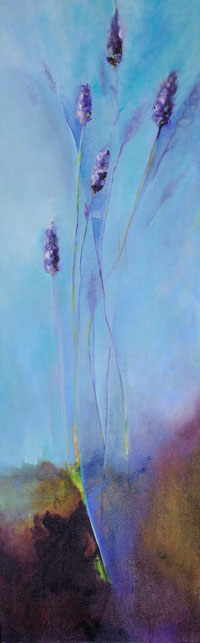 """The Threading of Amethysts"" 12 X 36 SOLD"
